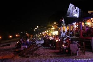 Strand auf Ko Lanta am Abend